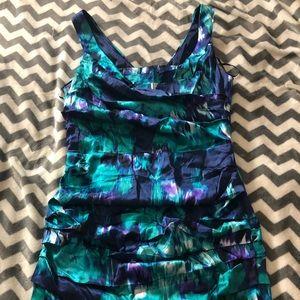 Express Crinkled Sleeveless Dress Multicolor